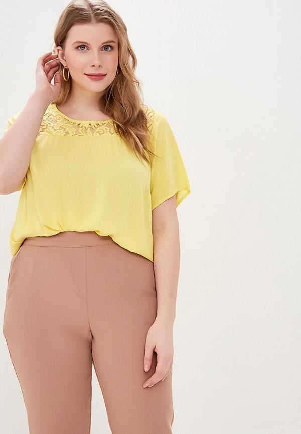 женская блузка zizzi, желтая