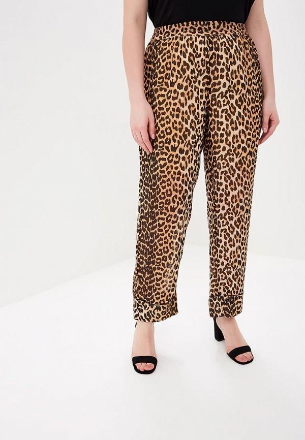 женские повседневные брюки zizzi, коричневые