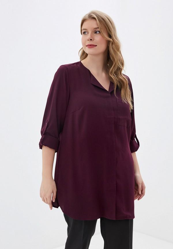 женская блузка zizzi, фиолетовая