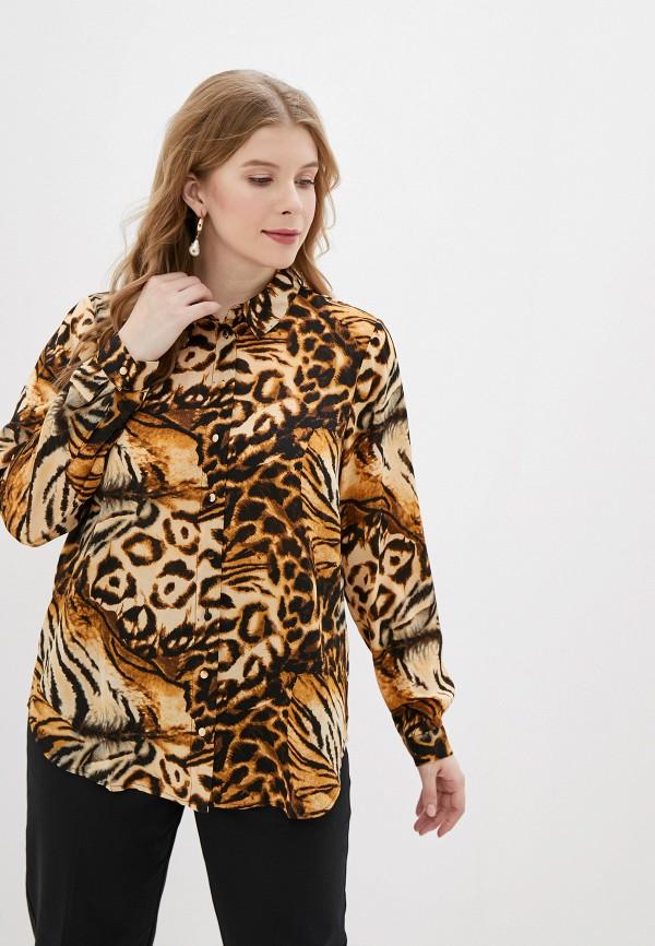 женская блузка zizzi, коричневая