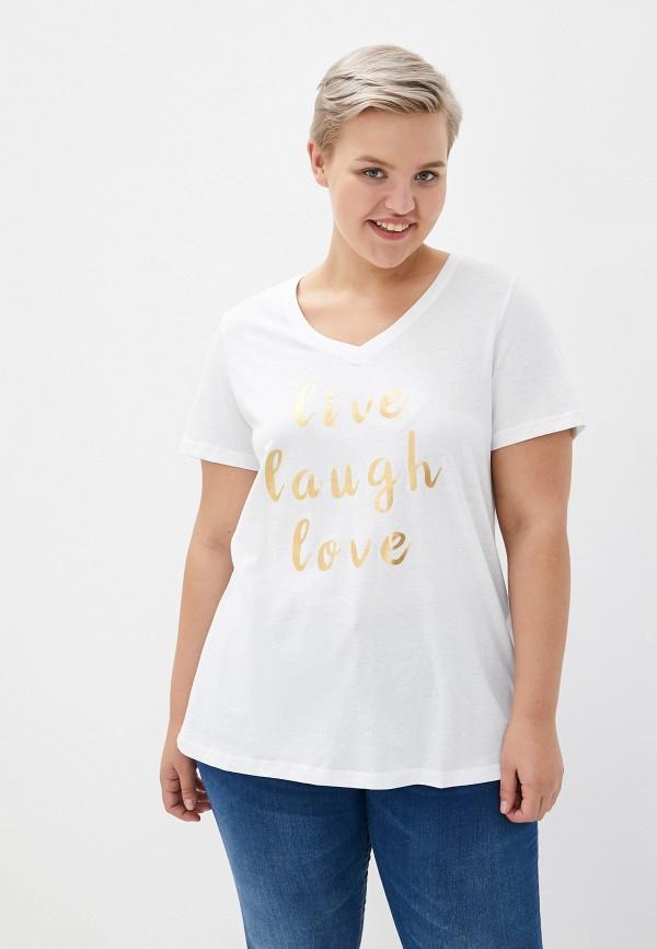 женская футболка zizzi, белая