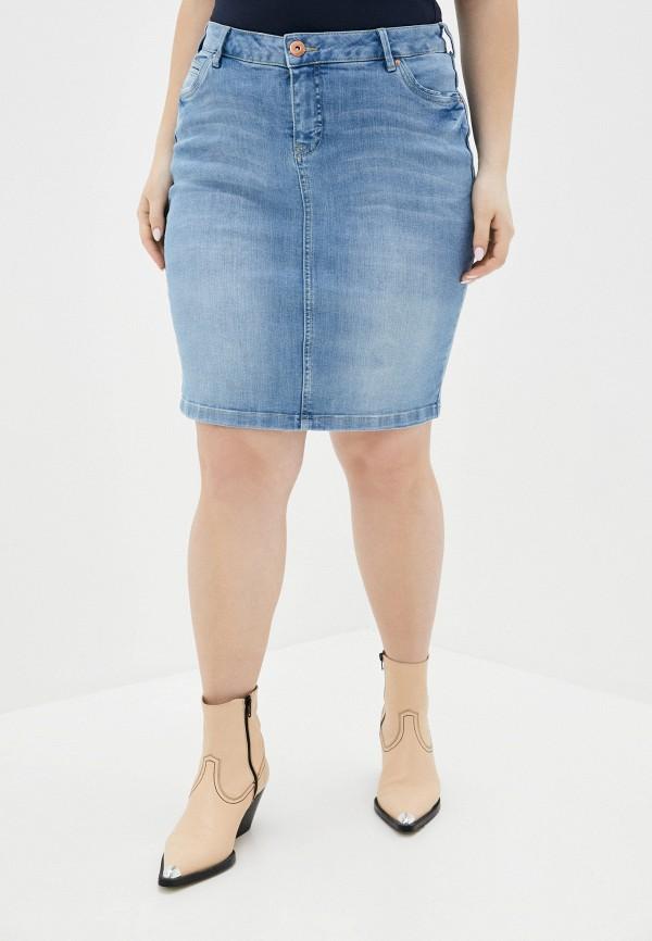 женская джинсовые юбка zizzi, голубая