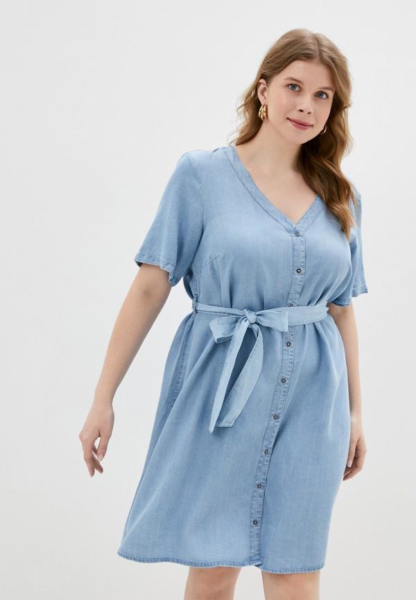 женское платье zizzi, голубое