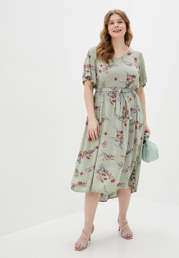 женское повседневные платье zizzi, хаки
