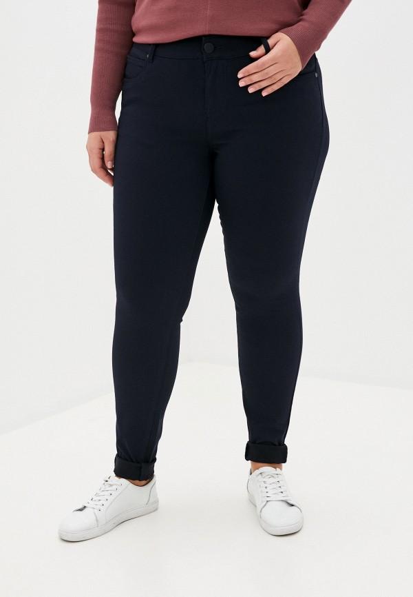 женские прямые брюки zizzi, синие