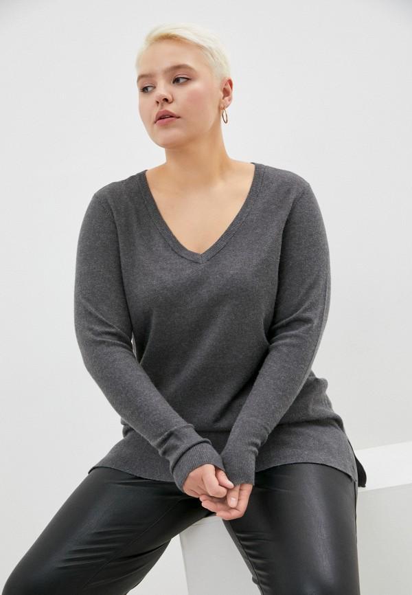 женский пуловер zizzi, серый