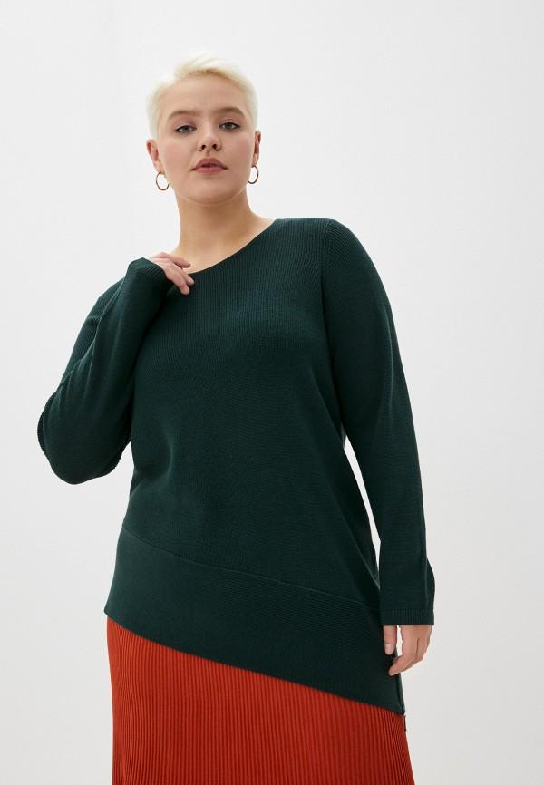 женский джемпер zizzi, зеленый