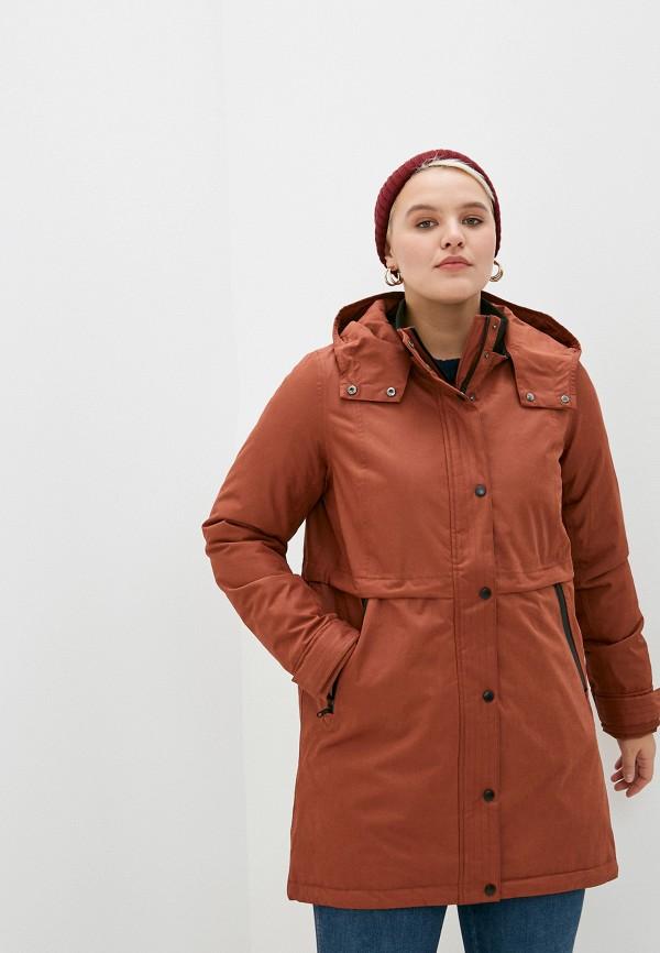 женская куртка zizzi, коричневая