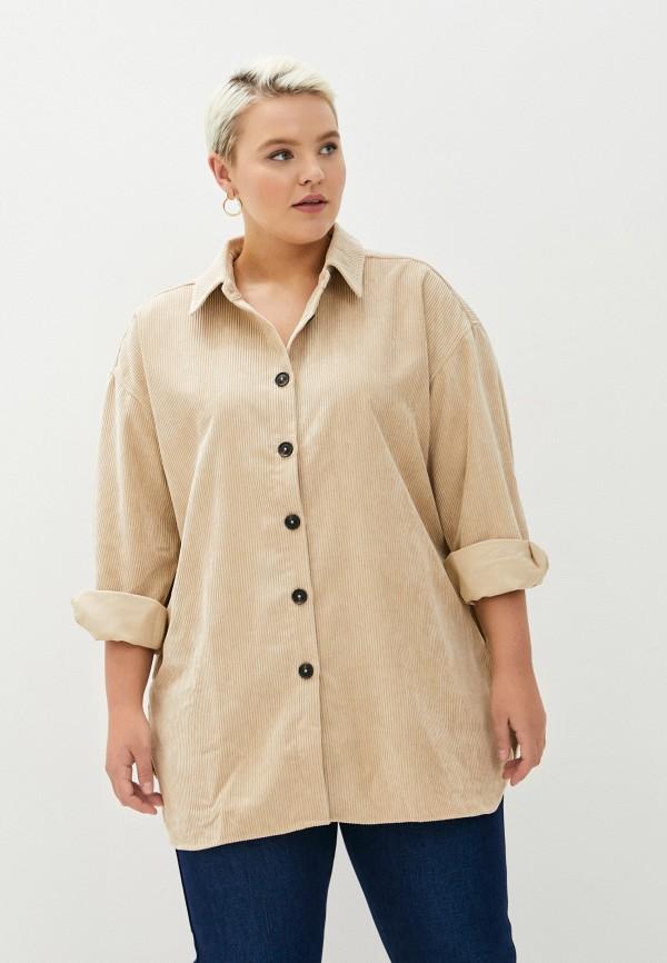 женская блузка zizzi, бежевая