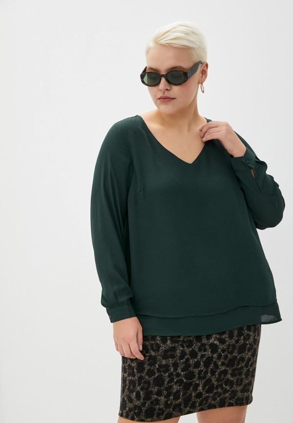 женская блузка zizzi, зеленая