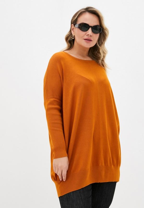 женский джемпер zizzi, оранжевый