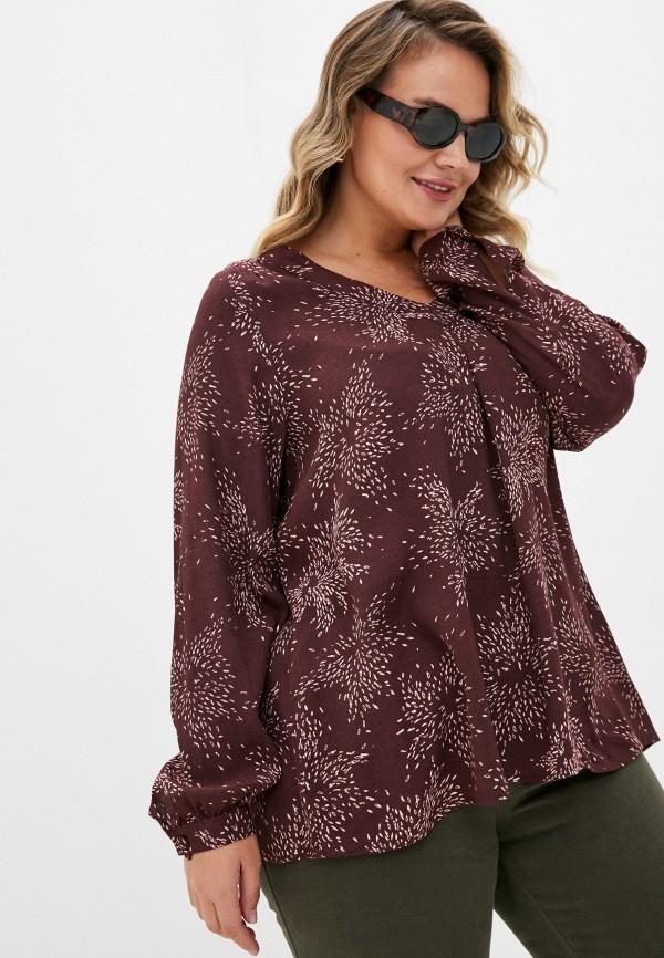 женская блузка zizzi, бордовая