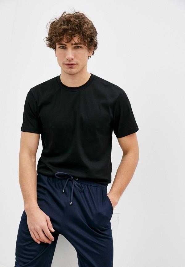 мужская футболка zimmerli, черная