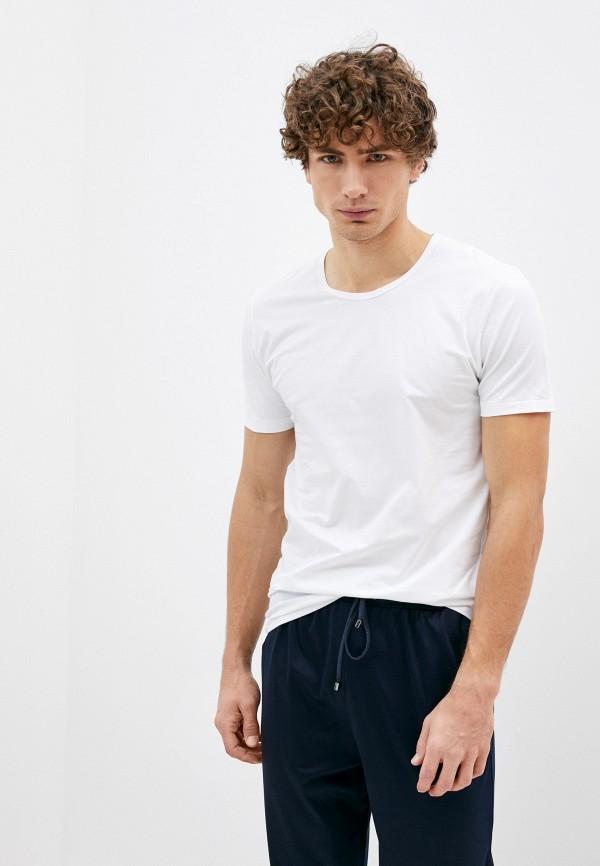 мужская футболка zimmerli, белая