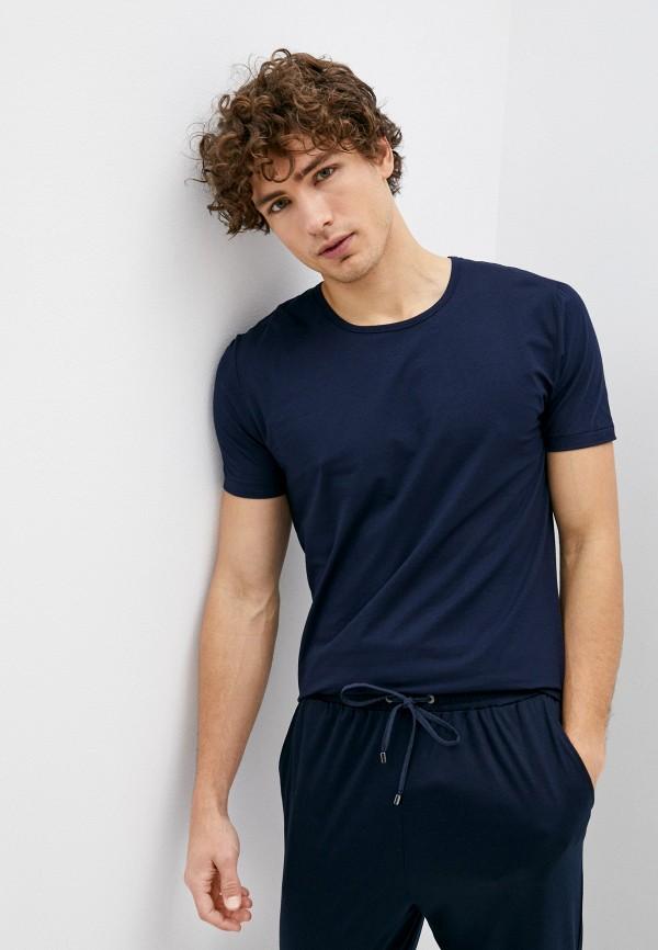 мужская футболка zimmerli, синяя