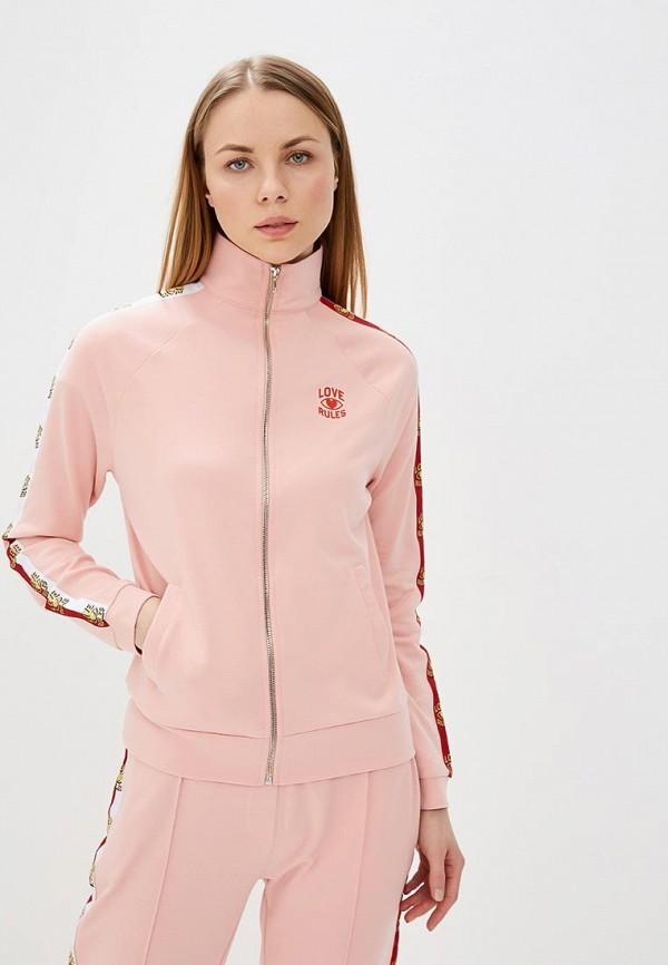 женская олимпийка zoe karssen, розовая
