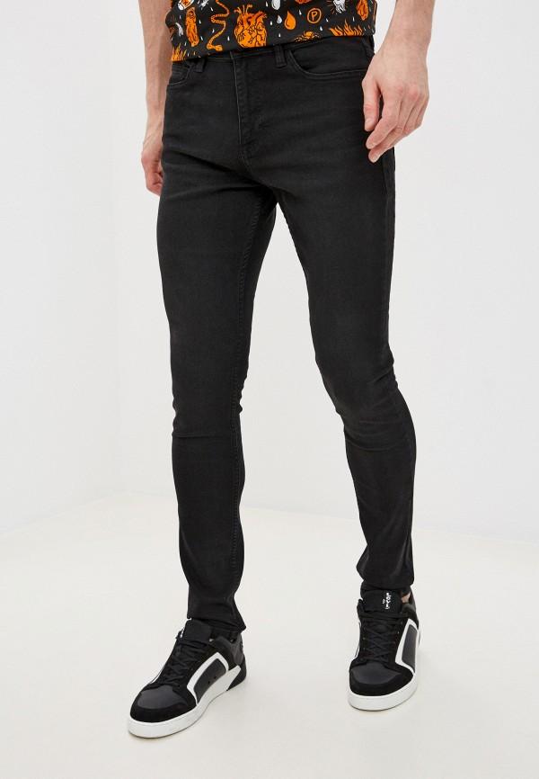 мужские зауженные джинсы zolla, черные