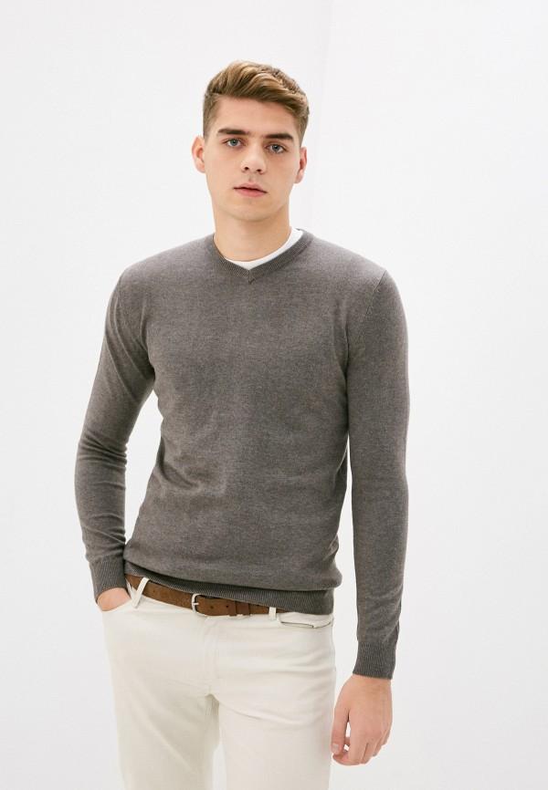 мужской пуловер zolla, коричневый