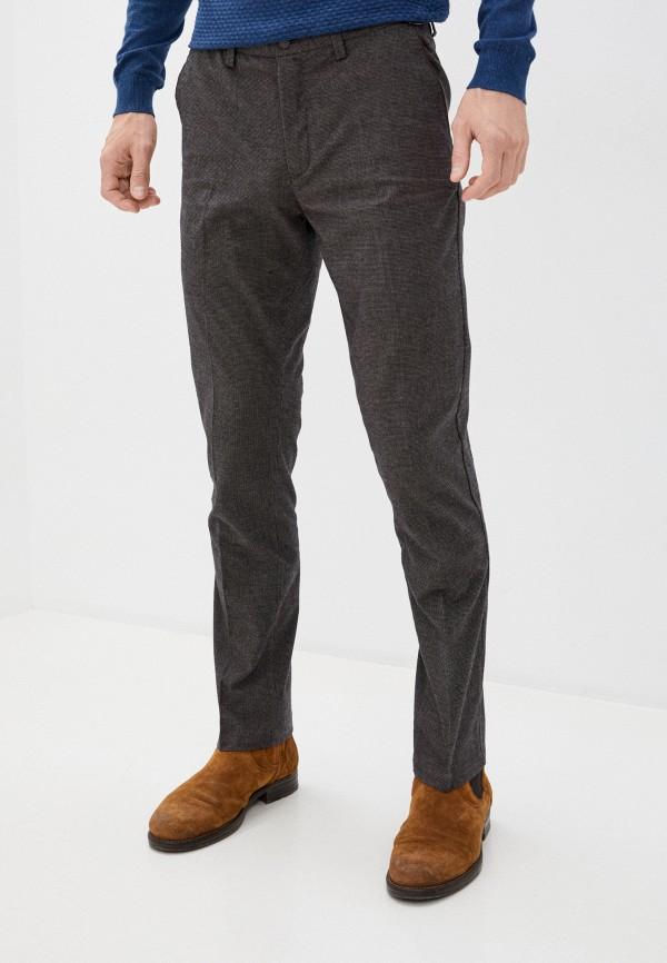 мужские зауженные брюки zolla, коричневые