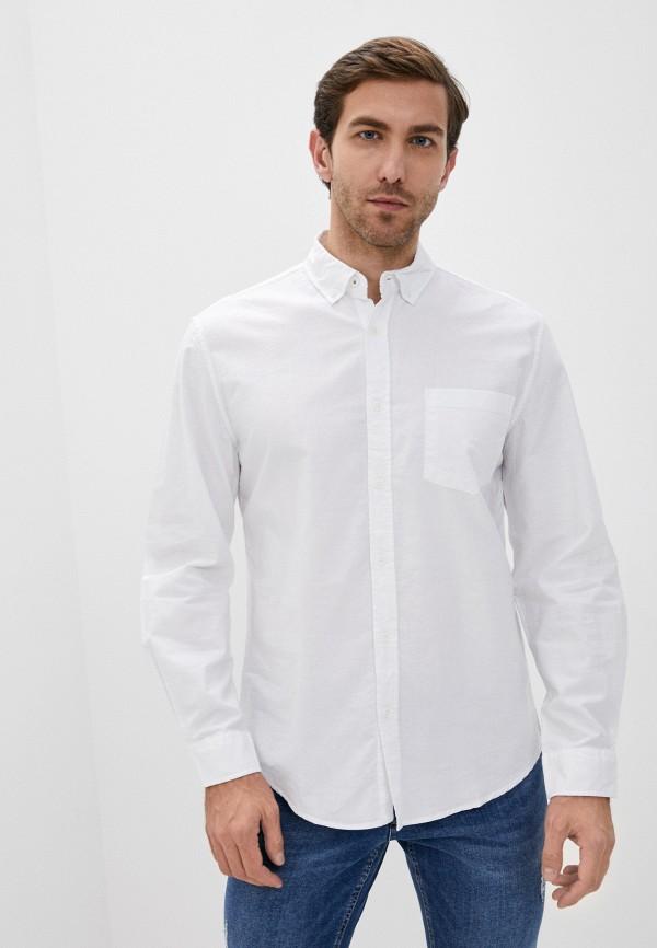 мужская рубашка с длинным рукавом zolla, белая