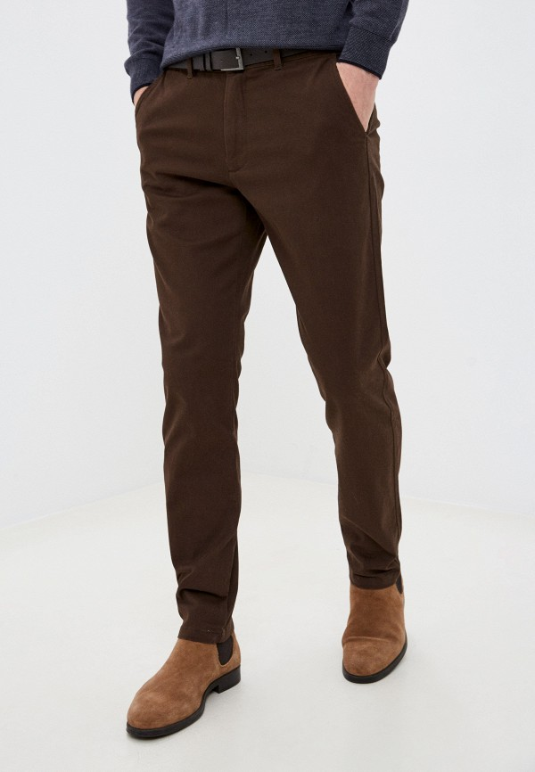 мужские брюки чинос zolla, коричневые