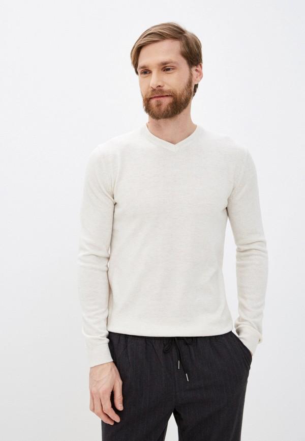 мужской пуловер zolla, бежевый