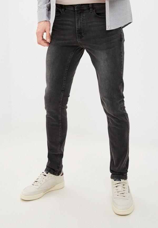 мужские зауженные джинсы zolla, серые
