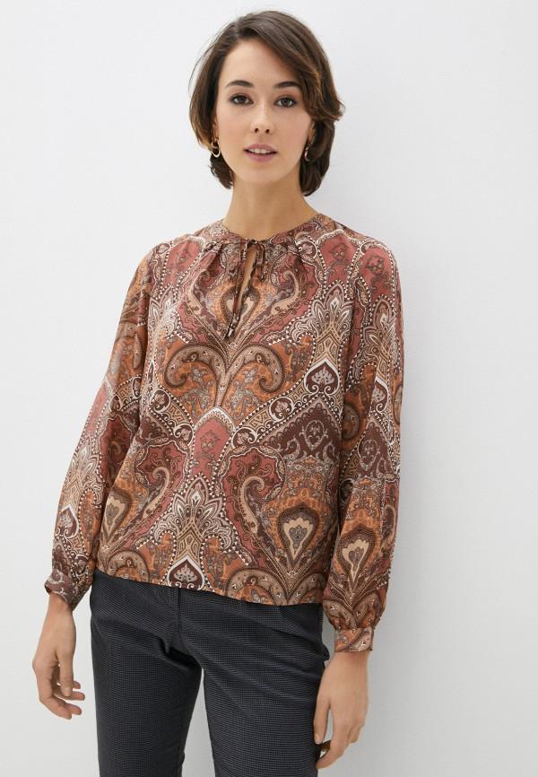 женская блузка zolla, коричневая