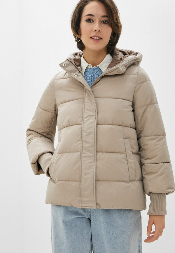 женская куртка zolla, бежевая