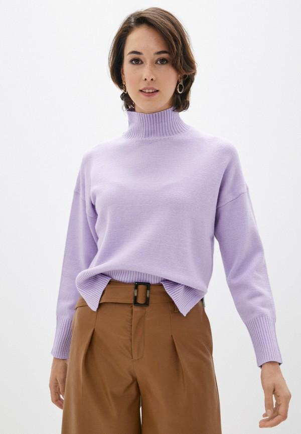 женская водолазка zolla, фиолетовая