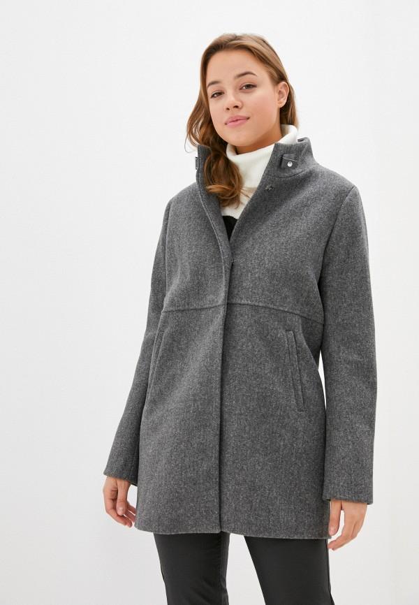 женское пальто zolla, серое