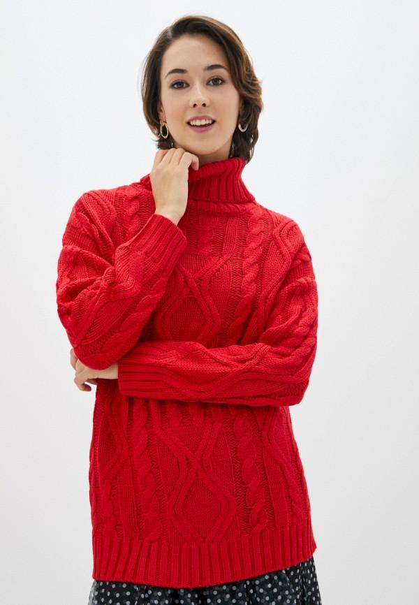 женский свитер zolla, красный