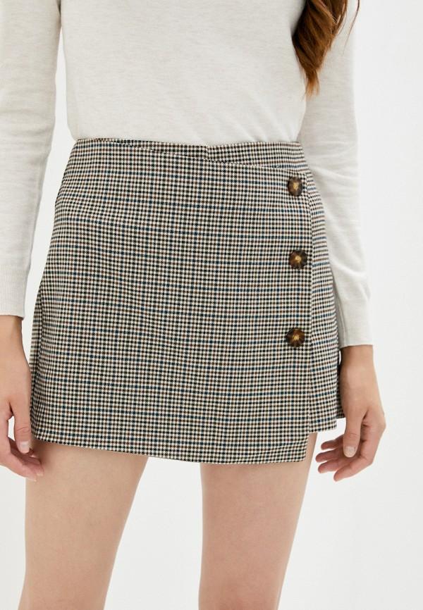 женская юбка zolla, коричневая