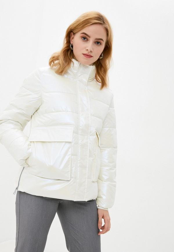 женская куртка zolla, белая