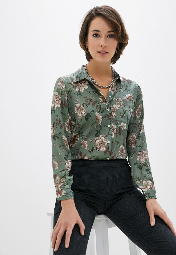 женская блузка zolla, хаки