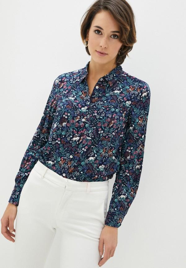 женская блузка zolla, синяя