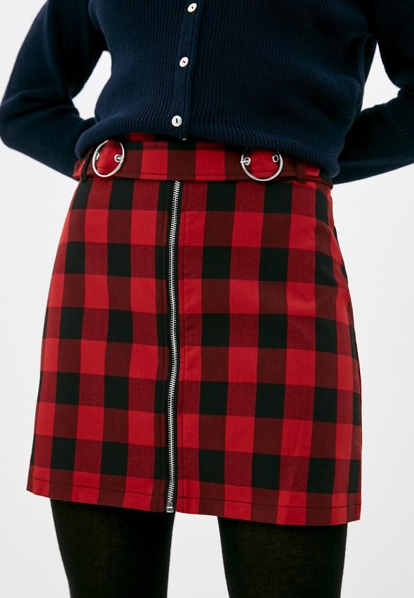 женская юбка zolla, красная