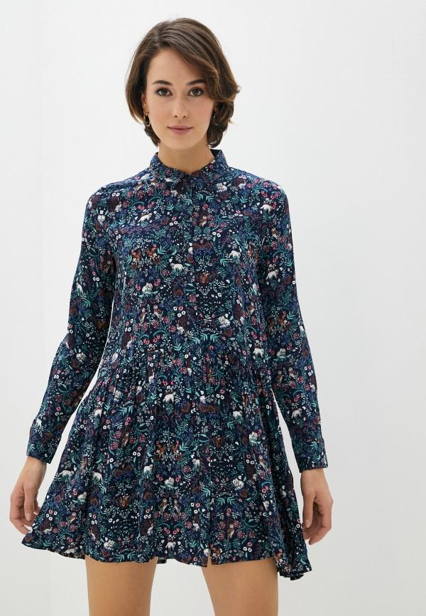 женское повседневные платье zolla, синее