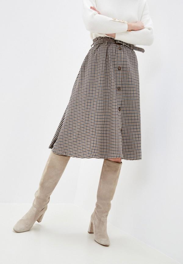 женская юбка zolla, бежевая