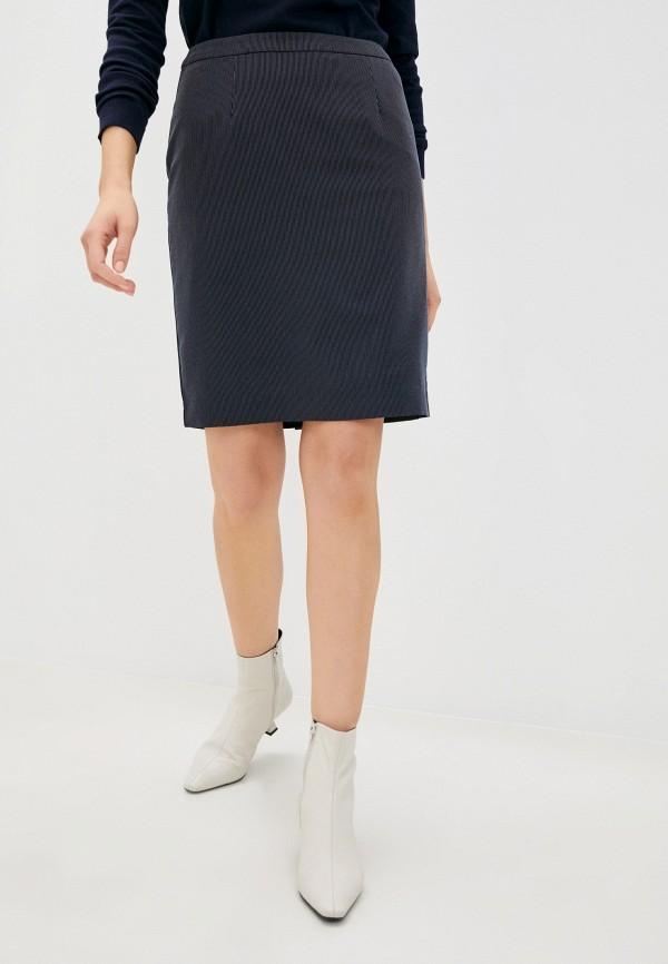 женская прямые юбка zolla, синяя
