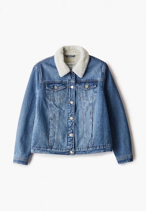 женская джинсовые куртка zolla, голубая