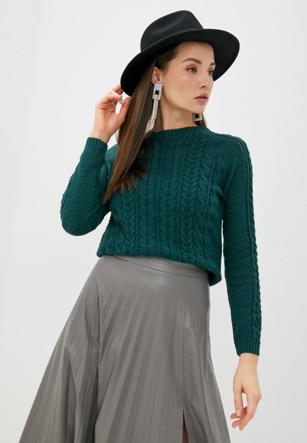 женский джемпер zolla, зеленый