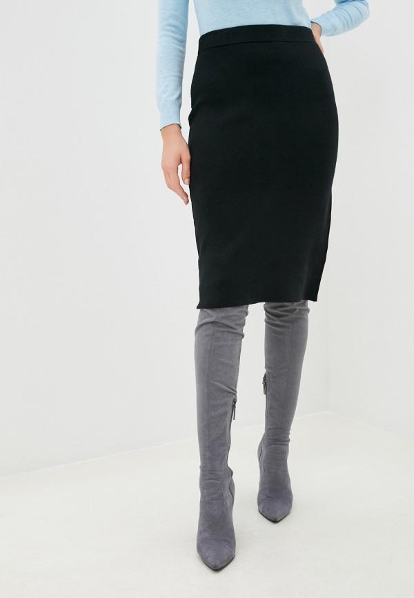 женская зауженные юбка zolla, черная