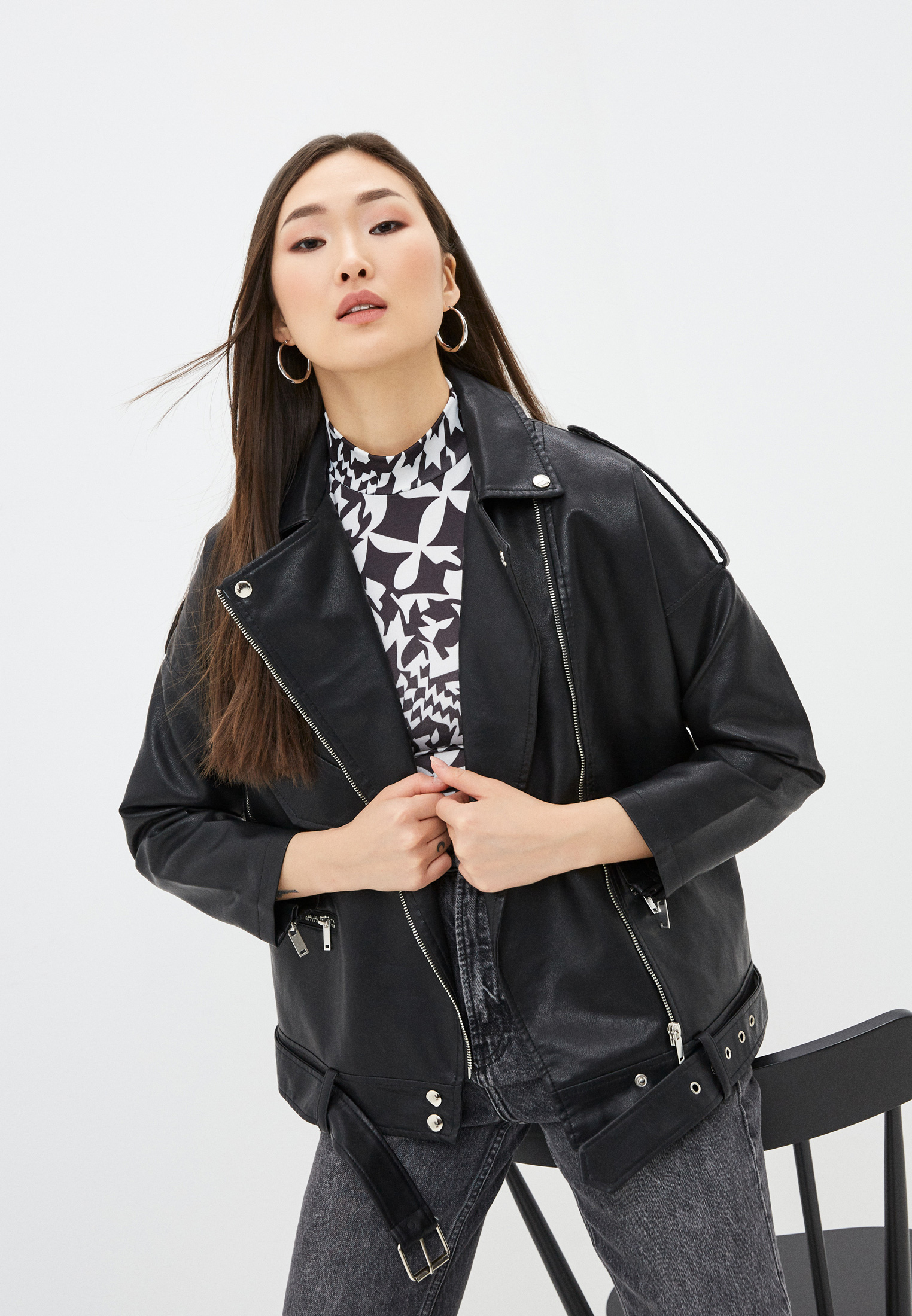 Кожаная куртка Aaquamarina Куртка кожаная Aaquamarina