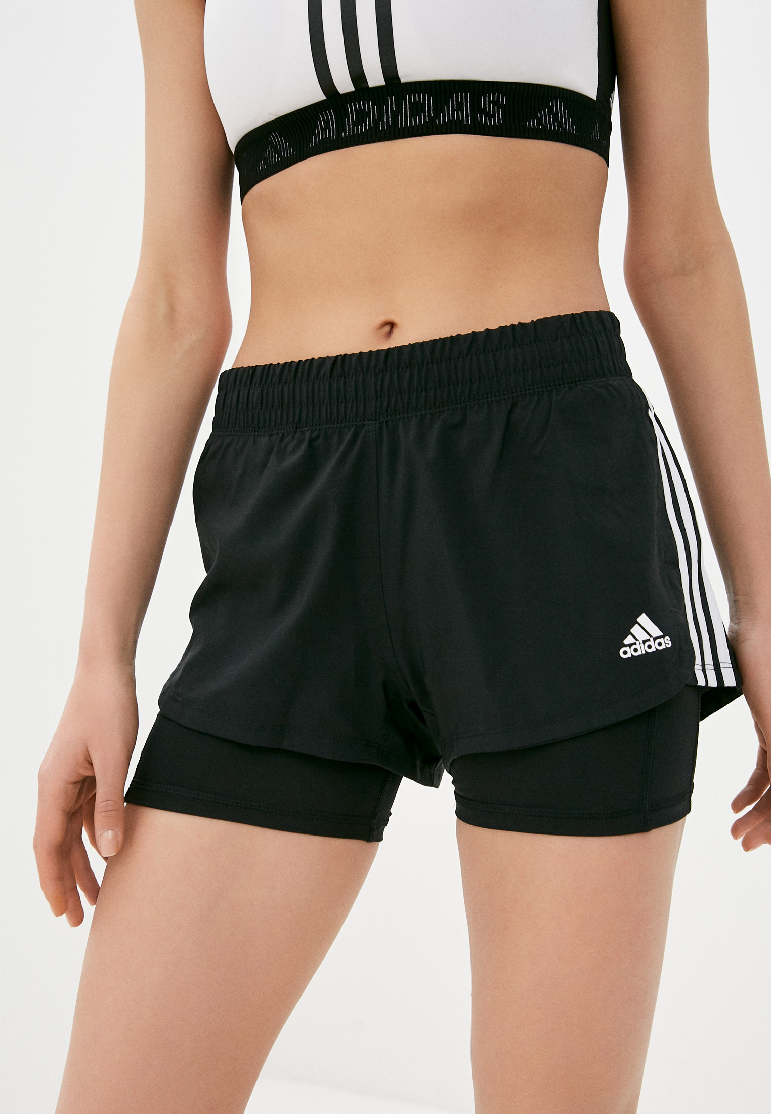 Женские шорты Adidas (Адидас) Шорты Pacer 3S 2 In 1 adidas