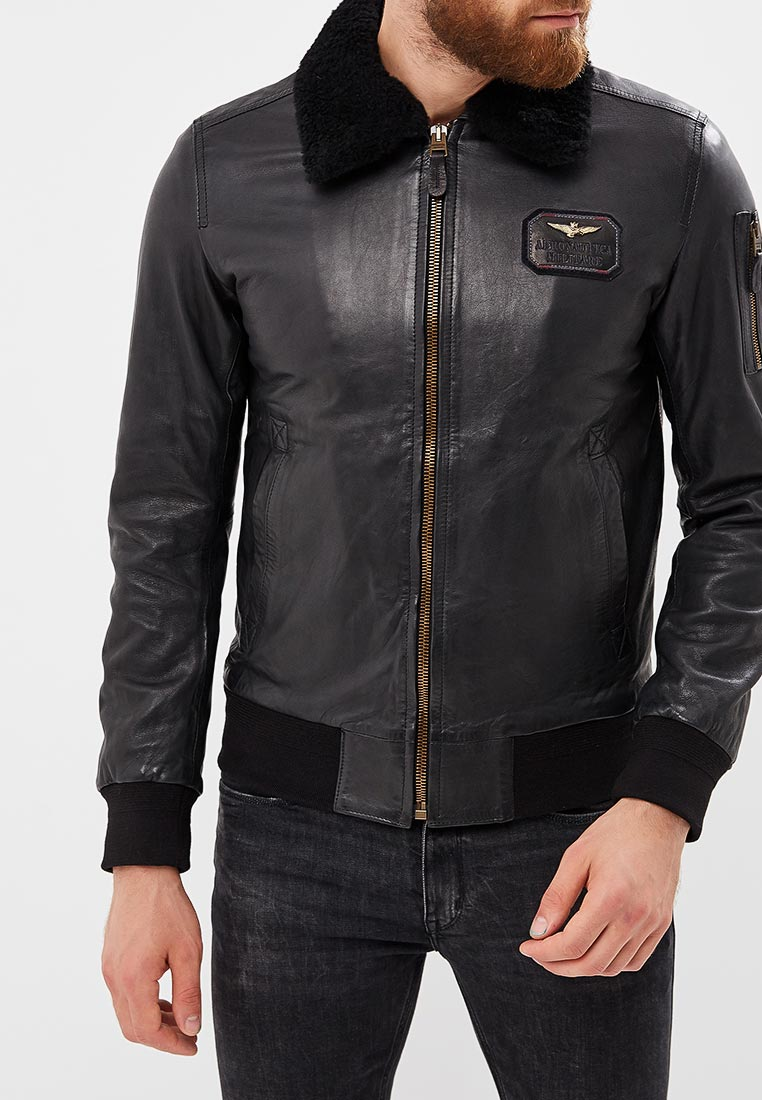 Кожаная куртка Aeronautica Militare pn8981807