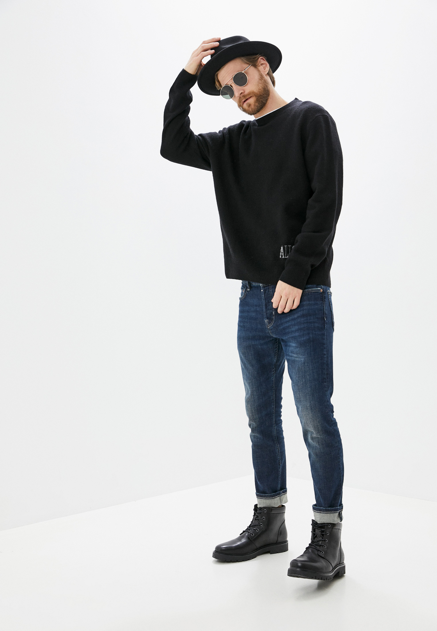 Зауженные джинсы AllSaints ME022P: изображение 7