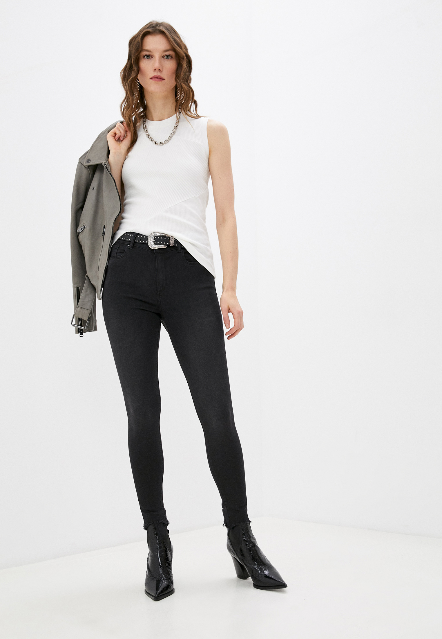 Зауженные джинсы AllSaints WE339S: изображение 3