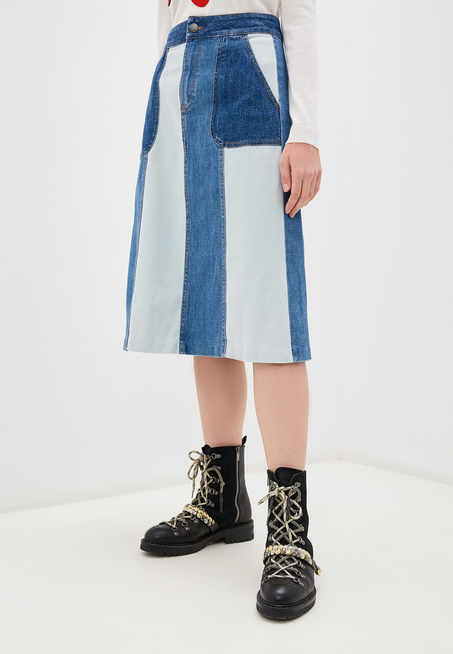 Джинсовая юбка Alice + Olivia CD394301SWE
