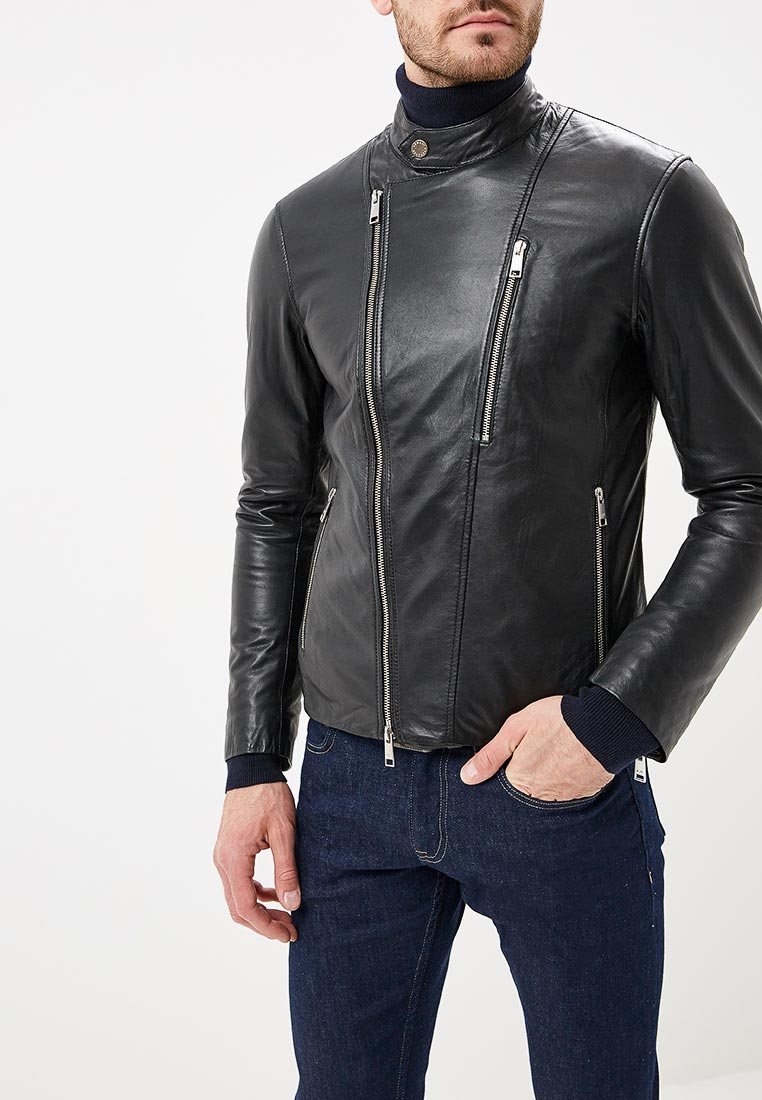 Кожаная куртка Armani Exchange 6zzb33 ZL05Z